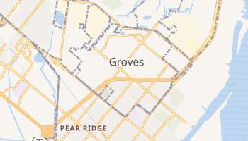 Groves, Texas map