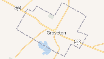 Groveton, Texas map