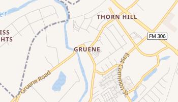 Gruene, Texas map
