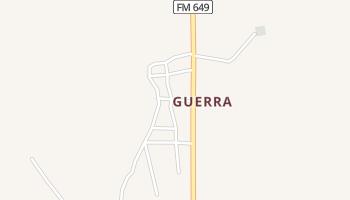 Guerra, Texas map
