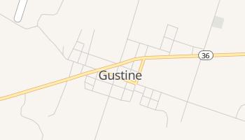 Gustine, Texas map