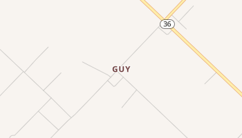 Guy, Texas map
