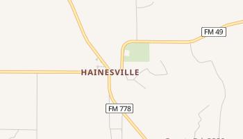 Hainesville, Texas map
