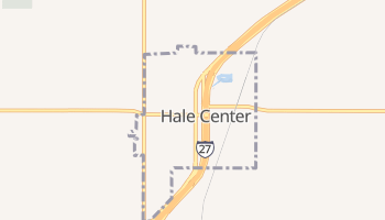 Hale Center, Texas map