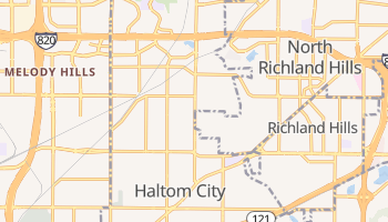 Haltom City, Texas map