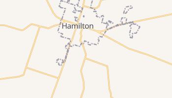 Hamilton, Texas map
