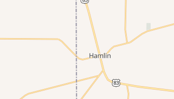 Hamlin, Texas map