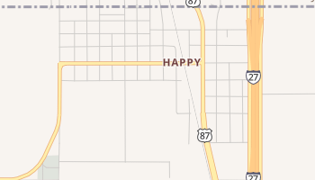 Happy, Texas map