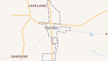 Hardin, Texas map