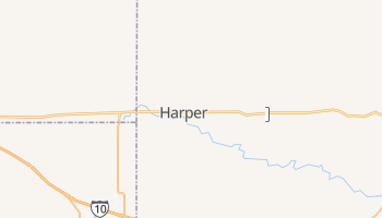 Harper, Texas map