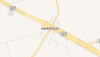 Harrold, Texas map