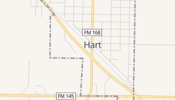 Hart, Texas map