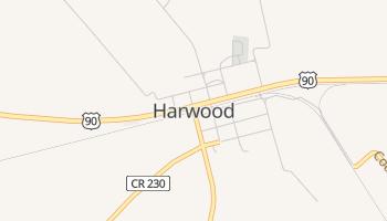 Harwood, Texas map