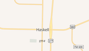 Haskell, Texas map