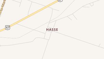 Hasse, Texas map
