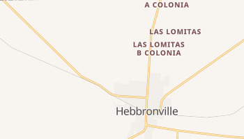 Hebbronville, Texas map