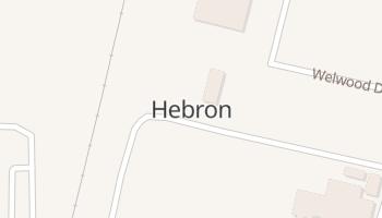 Hebron, Texas map