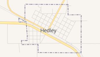 Hedley, Texas map