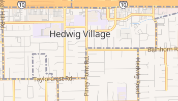Hedwig Village, Texas map