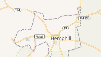 Hemphill, Texas map