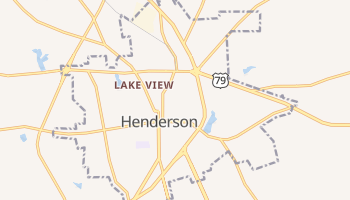Henderson, Texas map