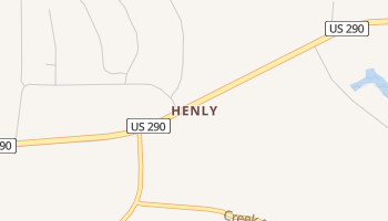 Henly, Texas map