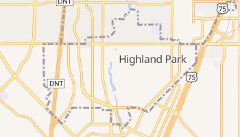 Highland Park, Texas map