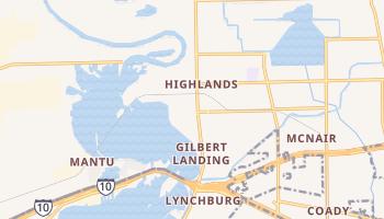 Highlands, Texas map