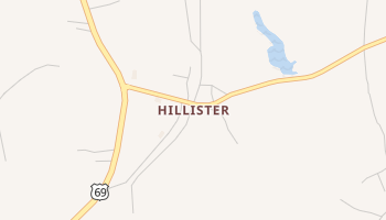 Hillister, Texas map