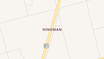Hindman, Texas map
