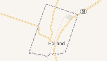 Holland, Texas map