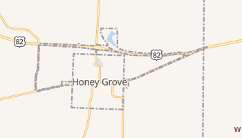 Honey Grove, Texas map