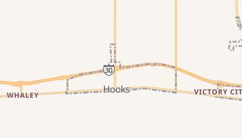 Hooks, Texas map