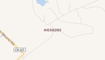 Hoskins, Texas map