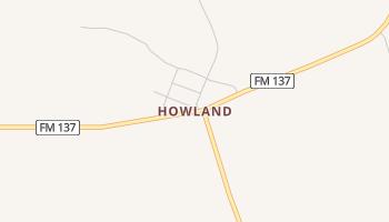Howland, Texas map