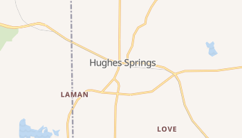 Hughes Springs, Texas map