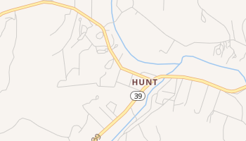 Hunt, Texas map