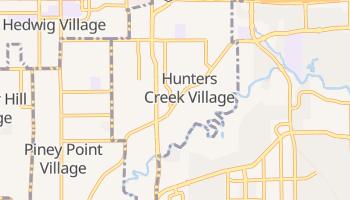 Hunters Creek Village, Texas map