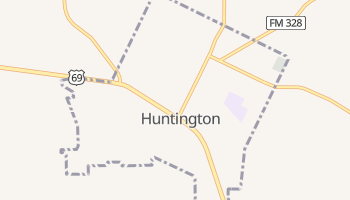 Huntington, Texas map