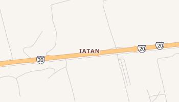 Iatan, Texas map