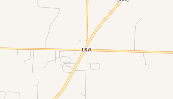 Ira, Texas map
