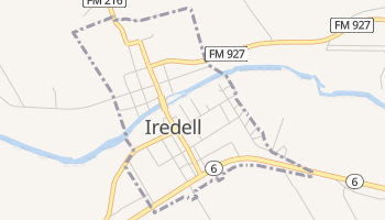 Iredell, Texas map