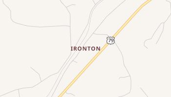Ironton, Texas map
