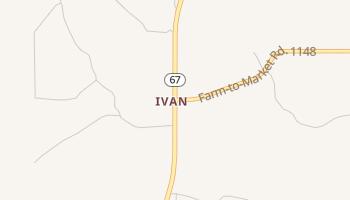 Ivan, Texas map