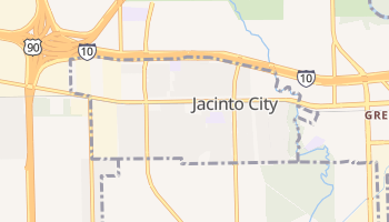 Jacinto City, Texas map