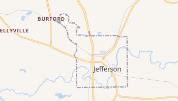 Jefferson, Texas map