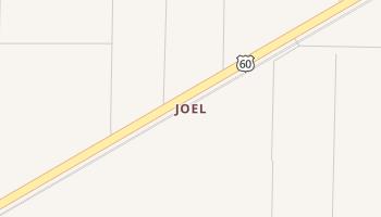 Joel, Texas map