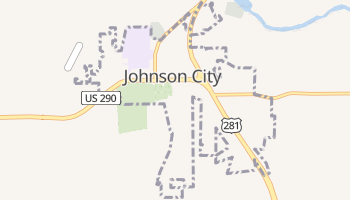 Johnson City, Texas map