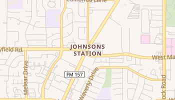 Johnsons Station, Texas map