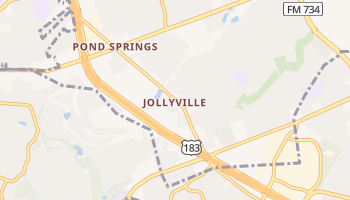 Jollyville, Texas map